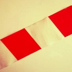 crveno-bijela pvc traka